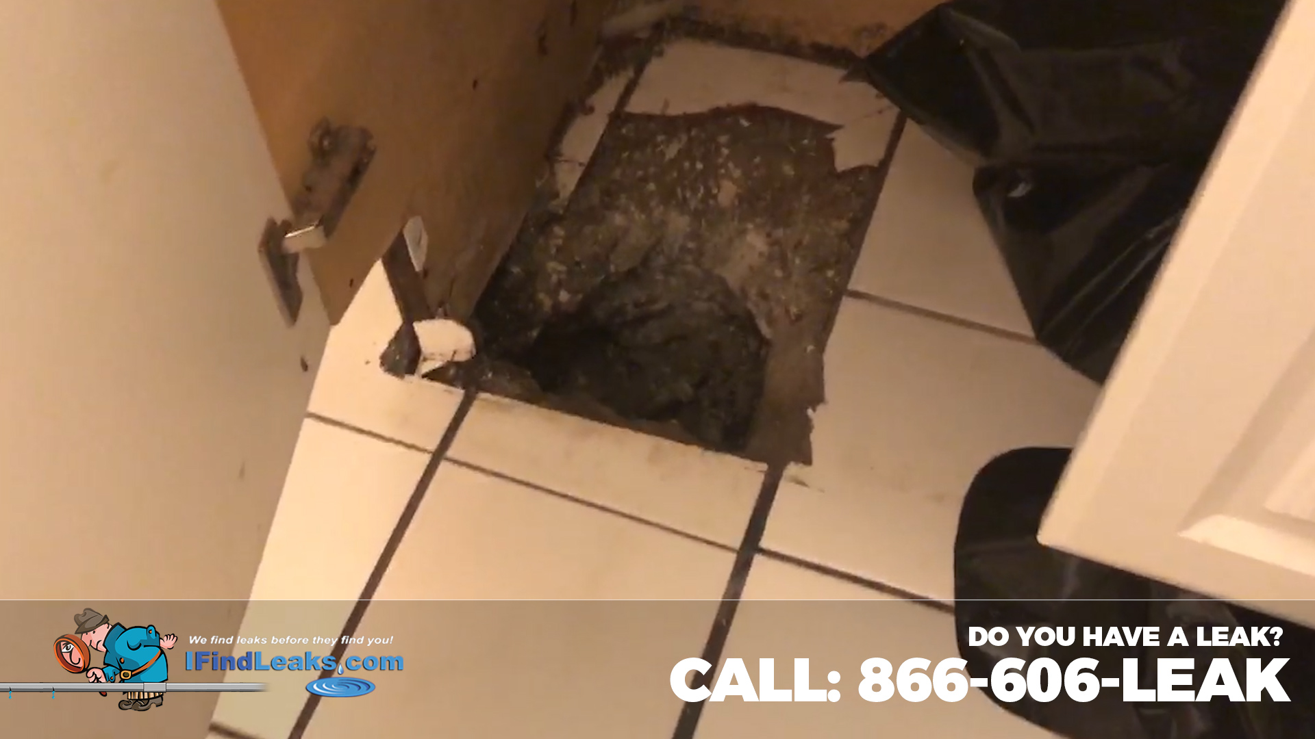 SLab leak detection in bathroom tampa