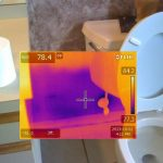 FLIR THermal Camera Showing Moisture in Bathroom