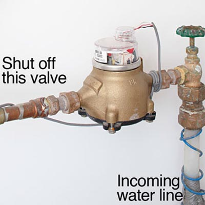 High water bill water meter
