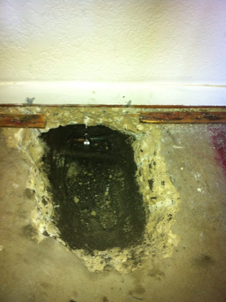 Slab leak developed in a St. Petersburg home